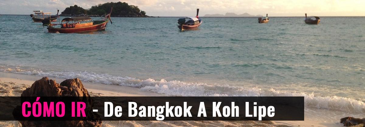 Cómo ir - De Bangkok a Koh Lipe