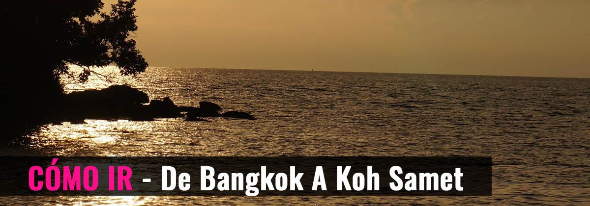 Cómo ir - De Bangkok a Koh Samet